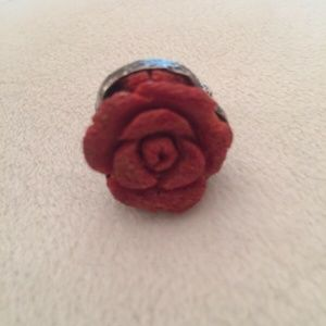Sterling Silver EXEX Claudia Agudelo Coral Ring